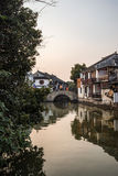 tongli,古老村庄老镇在苏州 库存图片
