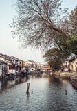 tongli,古老村庄老镇在苏州 免版税库存照片