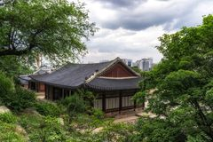 Tongmyeongjeong korean traditional building Stock Photography