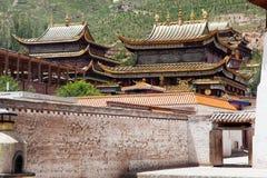 Tongren-Kloster oder Longwu-Kloster, China lizenzfreies stockfoto
