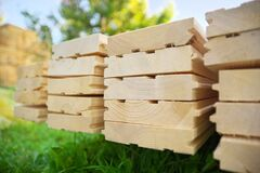 Tongue And Groove Pine Boards Royalty Free Stock Photos