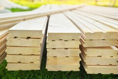 Tongue And Groove Pine Boards Stock Image