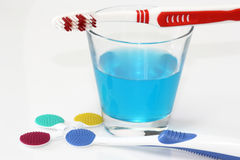 Tongue cleaner Stock Photos