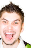 Tongue out stock image