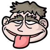 Tongue out. Creative design of tongue out stock illustration