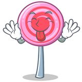 Tongue out cute lollipop character cartoon. Vector illustration Stock Photo