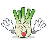 Tongue out fennel mascot cartoon style. Vector illustration Stock Photo