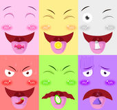 Tongue receive flavor vector Stock Photography