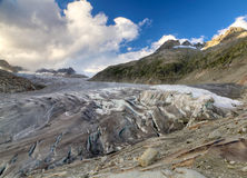 Tongue of Rhone glacier, Switzerland Stock Photography
