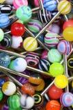 Tongue Rings Close Up Stock Photo