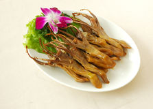 Tongue with spiced soy sauce. Chinese cuisine. chinese food cold dish. yumcha Stock Photography