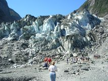 At the tongue tip of Franz-Josef Glacier Royalty Free Stock Image