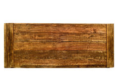Tongued rustic wooden planks. Some tongued rustic wooden planks on a white background Royalty Free Stock Photography