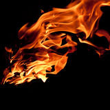 Tongues of Fire. Some fire with a black background Royalty Free Stock Photos