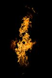 Tongues of flame. Fire series: high flame over dark background Stock Photography