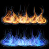 Tongues of flame Royalty Free Stock Images