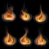 Tongues of flame Stock Photography