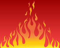 Tongues of flames. Vector illustrations body of flame on red background Royalty Free Stock Image