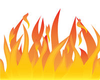 Tongues of flames. Vector illustrations body of flame on white background Stock Image