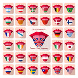 Tongues. Flat language icons with country flags Royalty Free Stock Photography