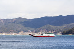 Tongyeong beach. Boat in Tongyeong sea, south Korea Royalty Free Stock Photography