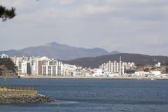 Tongyeong city view from Tongyeong beach. South Korea Stock Photography