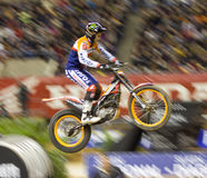 Toni Bou jumping Royalty Free Stock Photography