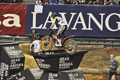 Toni bou-trial. Barcelona-Catalonia international indoor trial Stock Image