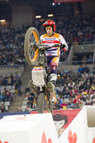 Toni Bou. The world champion, compete at Trial Indoor of Barcelona, on February 9, 2014, in Palau Sant Jordi stadium, Barcelona, Spain. He was the winner Stock Photos