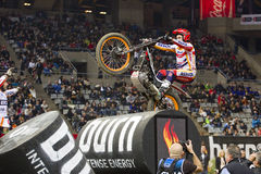 Toni Bou. The world champion, compete at Trial Indoor of Barcelona, on February 9, 2014, in Palau Sant Jordi stadium, Barcelona, Spain. He was the winner Royalty Free Stock Photos