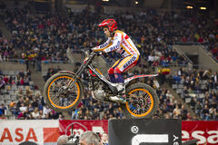 Toni Bou. The world champion, compete at Trial Indoor of Barcelona, on February 9, 2014, in Palau Sant Jordi stadium, Barcelona, Spain. He was the winner Royalty Free Stock Images