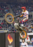 Toni Bou. The world champion, compete at Trial Indoor of Barcelona, on February 9, 2014, in Palau Sant Jordi stadium, Barcelona, Spain. He was the winner Stock Photography