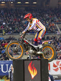 Toni Bou. The world champion, compete at Trial Indoor of Barcelona, on February 9, 2014, in Palau Sant Jordi stadium, Barcelona, Spain. He was the winner Royalty Free Stock Image