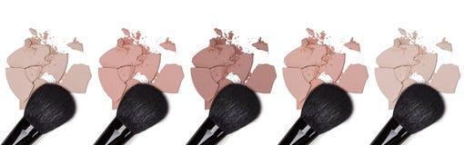 Toni differenti di polvere cosmetica Immagini Stock Libere da Diritti