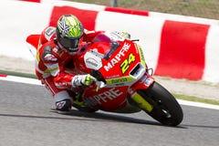 Toni Elias tävlings- Moto2 Royaltyfria Foton