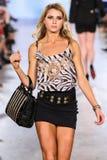 Toni Garrn and Adriana Lima walks Carmen Steffens runway at the FTL Moda SS16 Royalty Free Stock Image