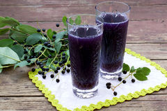 Tonic drink with bird cherry Royalty Free Stock Photography