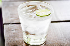 Tonic,soda and lime slice Stock Images