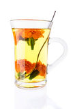 Tonic Tea with Marigolds Stock Images