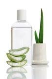 Tonico di aloe organico vera Fotografie Stock