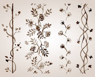 Tonie akwarela ornament Obrazy Royalty Free