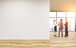 Tonificação vazia da parede do escritório ilustração stock