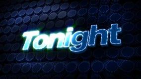 Tonight Glitz Sparkle Text stock video