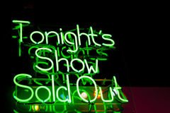 Tonight's Show Royalty Free Stock Photo
