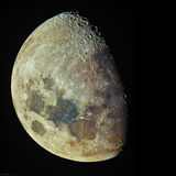 Tonight's Waxing Gibbous Moon Royalty Free Stock Photo