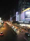 Traffic in bangkok thailand. Tonight traffic in thailand,relax Stock Photography