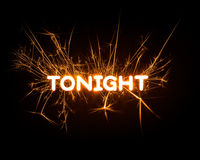 TONIGHT word in glowing sparkler Stock Photo
