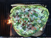 Tonight's Grilled Pizza Royalty Free Stock Photo