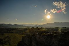 Toninà ¡, archeological miejsce rujnował miasto majowie cywilizacja zdjęcie stock