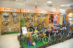 Tonino lamboighini bike shop Royalty Free Stock Image